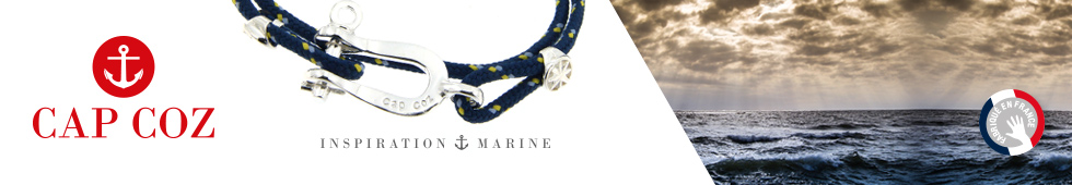 BIJOUX CAP COZ, collection de bracelets marins fabriqués en France