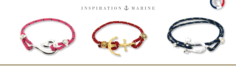 Bracelets ancre, bracelet hamecon, bracelet manille fabriqué en France