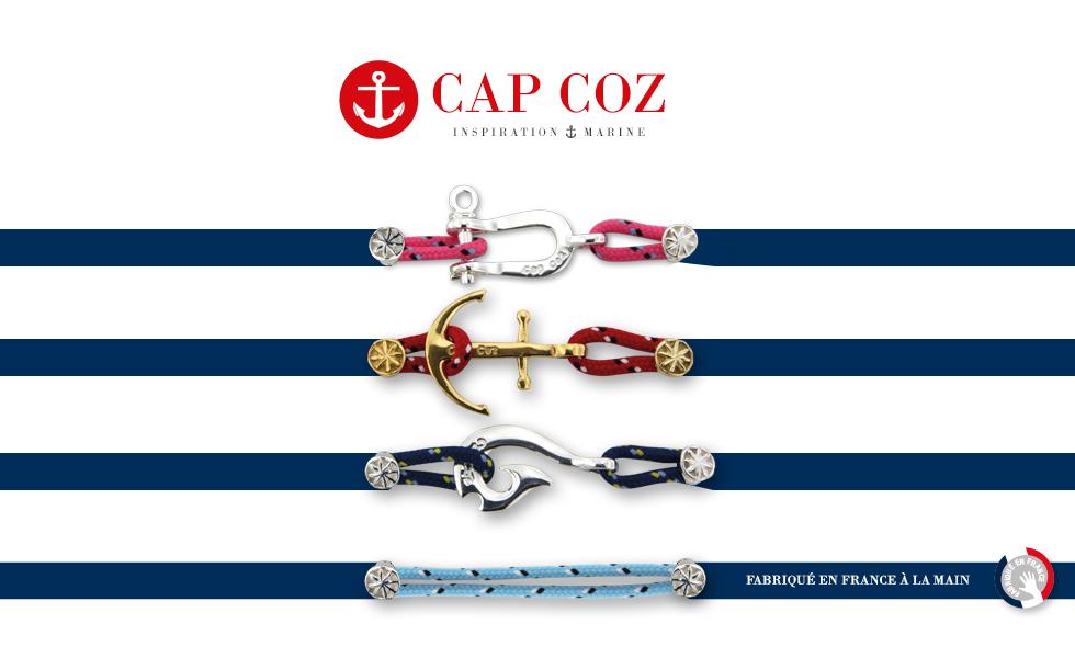 Collection CAP COZ, bijoux nautiques en Argent fabriqués en France artisanalement.