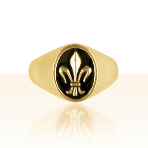 chevalière or fleur de lys gm | bijoux vendeens | regionaux | madilar
