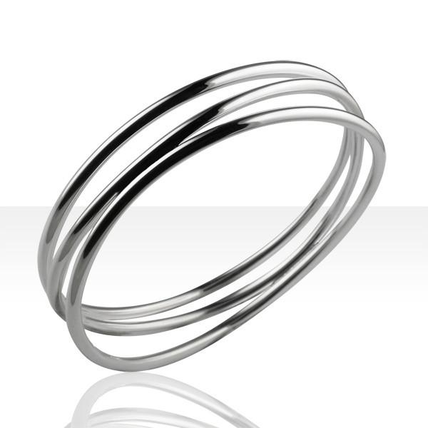 Bracelet Argent RIGIDE FR30/TRIPLE ANNEAU