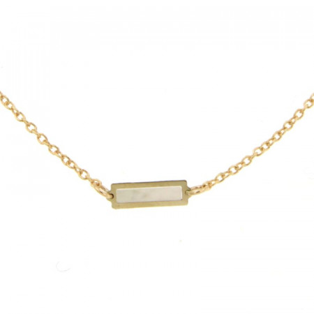 Collier Or 375°°° 3 RECTANGLES NACRE 42cm