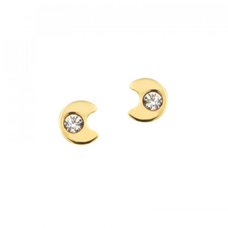 Boucles d'oreilles MINI LUNE OZ Or 375°°° - VIS SECURITE