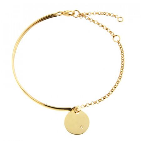 Bracelet semi articulé Or 375°°° JETON DIAMANT