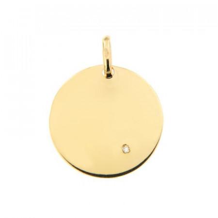 Médaille JETON Diamant Or 375°°° (15mm)