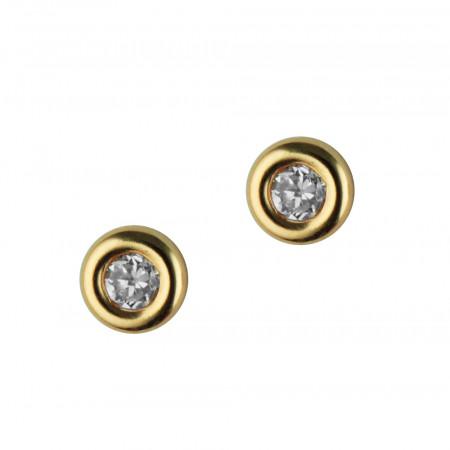 Boucles d'oreilles Or 375°°° OXYDE bouée GM  - VIS
