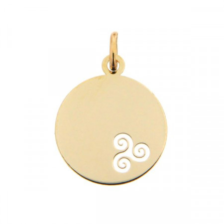 Médaille bébé Or 375°°° TRISKELL ajouré