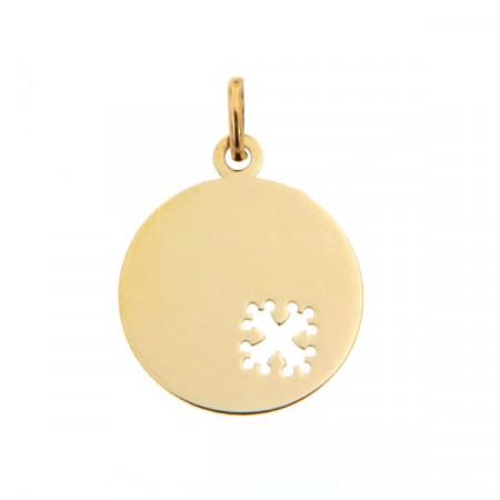 Médaille bébé Or 375°°° CROIX OCCITANE ajouré