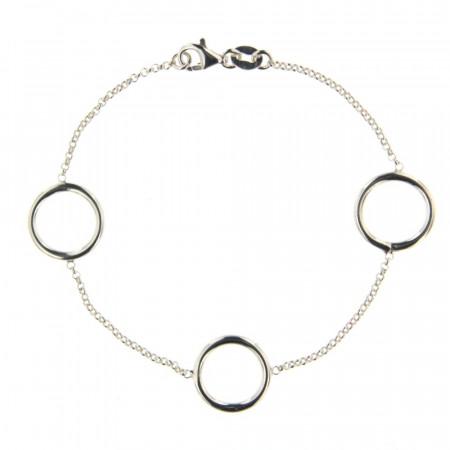 Bracelet Argent EPURE Fine Anneaux 14mm