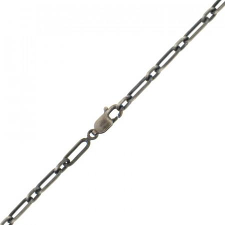 Bracelet Argent Figaro 1RD-1L- (L: 50CM - l: 3mm) Patinée