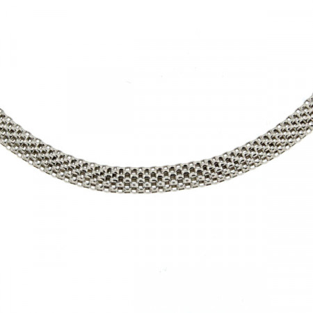 Collier Argent COREENNE Plate L: 45cm - l: 5mm