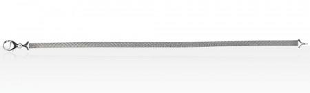 Bracelet Argent CHAINE PLATE DIAMANTEE PM