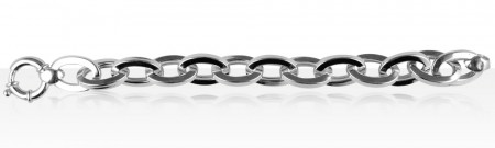 Bracelet Argent OVALES LIMES GM