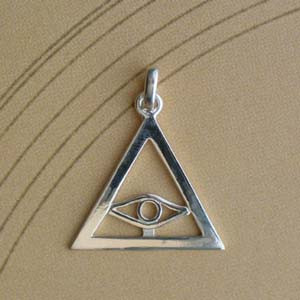Triangle Argent PLAT + OEIL Z26