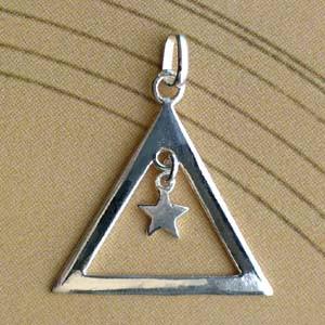 Triangle Argent EVIDE + PENTAGRAM PM Z43