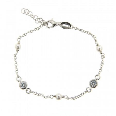Bracelet Argent BOLA 3OZ clos - 16+2cm