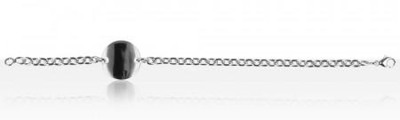Bracelet Argent IDENTITE CH OVAL PM/PLAQUE RONDE