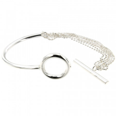 Bracelet Argent EPURE SA Barrette  FR35 - Multirangs
