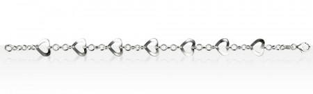 Bracelet Argent 7 COEURS DECOUPES