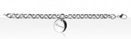 Bracelet Argent 1 Médaille PP à graver