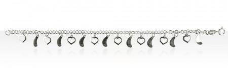 Bracelet Argent PP COEUR VIRGULE