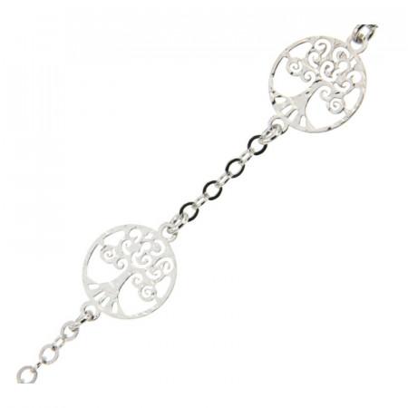 Bracelet Argent Arbre de vie 4 motifs