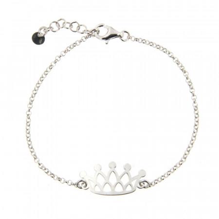 Bracelet Argent 1 COURONNE - OZ - 16+2,5cm