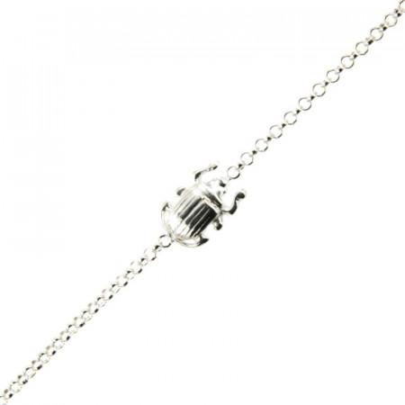 Bracelet Argent KHEOPS / Scarabée 16+2,5cm