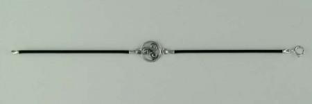 Bracelet Argent CUIR TRISKELL ENTOUR STYLISE/1