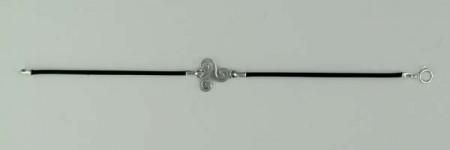 Bracelet Argent CUIR TRISKELL PLAT/3