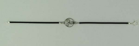 Bracelet Argent CUIR TRISKELL CORDON/1