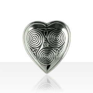 Broche Argent COEUR TRISKELL PM