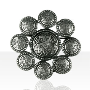 Broche Argent TRISKELL PERLE /ENT.TRISKELL ROND