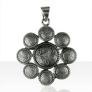 Médaille Argent TRISKELL PERLE /ENT TRISK ROND