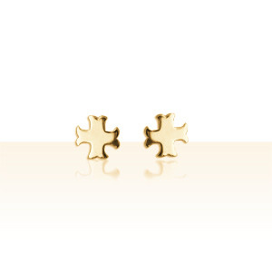 Boucles d'oreilles Or 18K OP CROIX CATHARE PM
