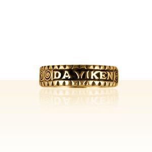 "Alliance Or ""Da Viken"" diamantée"