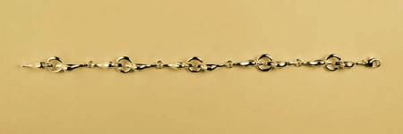 Bracelet Plaqué Or TETES CANARDS/AnneauX