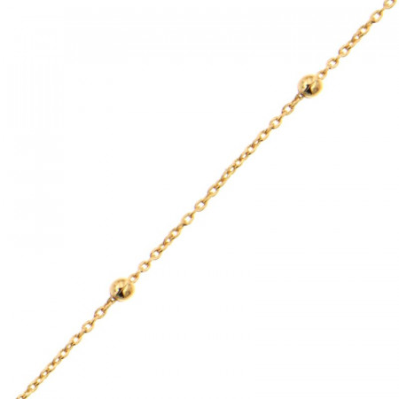 Bracelet Plaqué Or Boule espacée 1x3cm -18cm