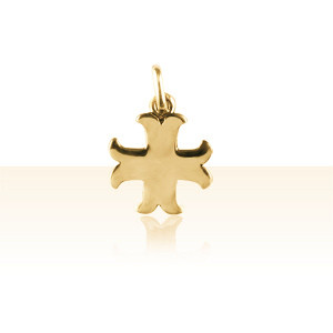 Pendentif Plaqué Or CROIX CATHARE MM