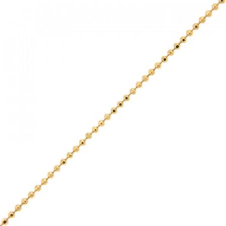 Collier Plaqué Or BOULE 110 diamantée - 40CM