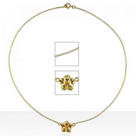 Collier Plaqué Or 1 HIBISCUS MM