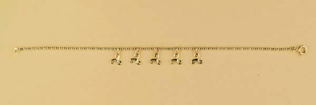 Bracelet Plaqué Or BOULE PP 5 TRISKELLS