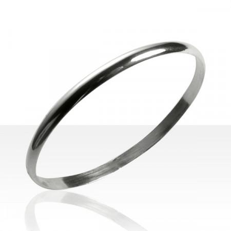 Bracelet 1/2 JONC Argent massif 5-063