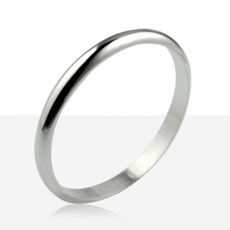 Bracelet  1/2 JONC ARGENT MASSIF 8MM / 4MM