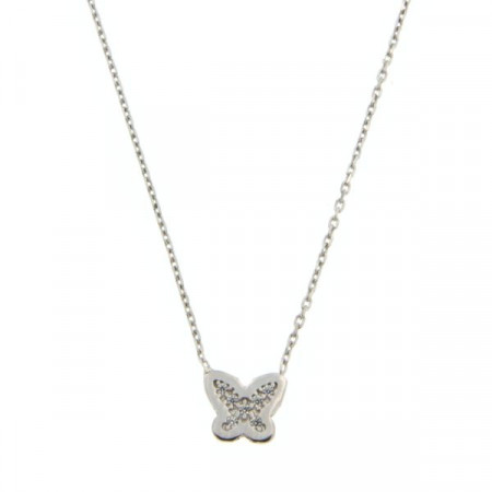 Collier Argent KOTA PAPILLON Mini -  OZ