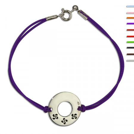 Bracelet Argent NILA Disque 3 Croix basques