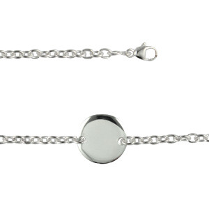 Bracelet Argent Médaille 15MM