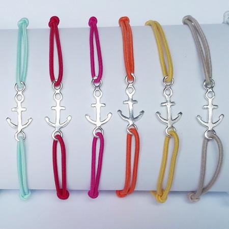 Bracelet Argent LASTIC Ancre