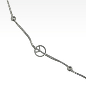 """Collier Argent """"PEACE & LOVE"""""""