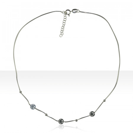 "Collier Argent ""SMILEY"""